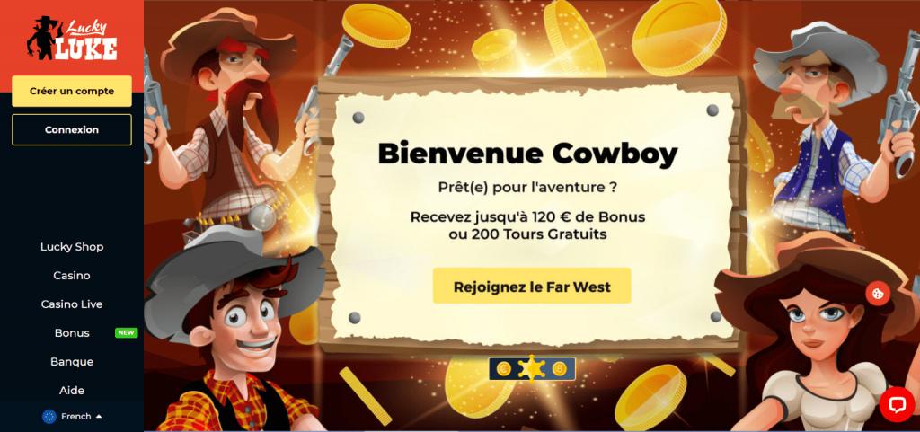 Lucky Luke Casino Bonus