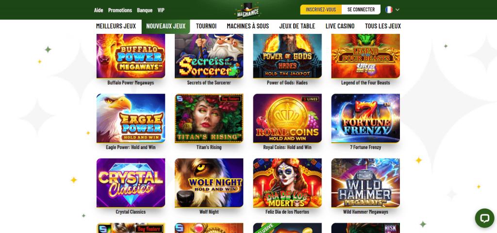 machance casino jeux
