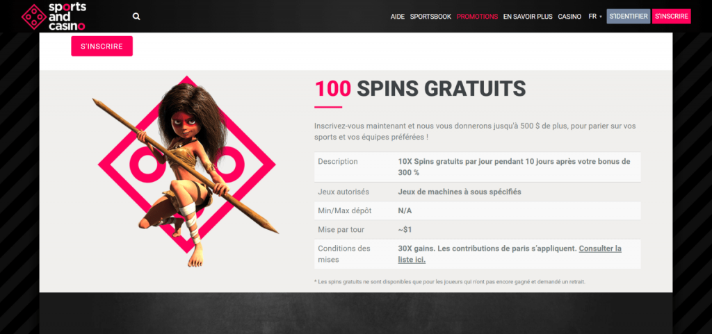 Sports and casino free spins