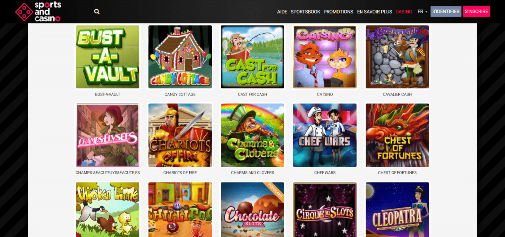 sports and casino slots