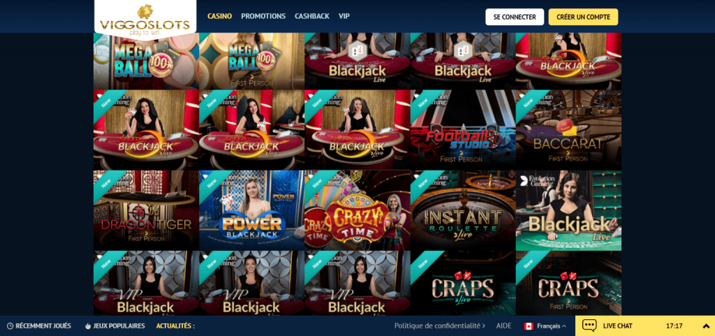 Viggoslots casino live casino